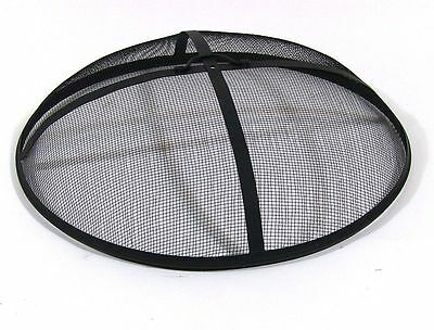 Outdoor Round Fire Pit Safety Spark Screen Mesh Guard Steel