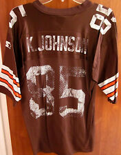 CLEVELAND BROWNS beat-up Kevin Johnson med 2000 football jersey WR nylon #85