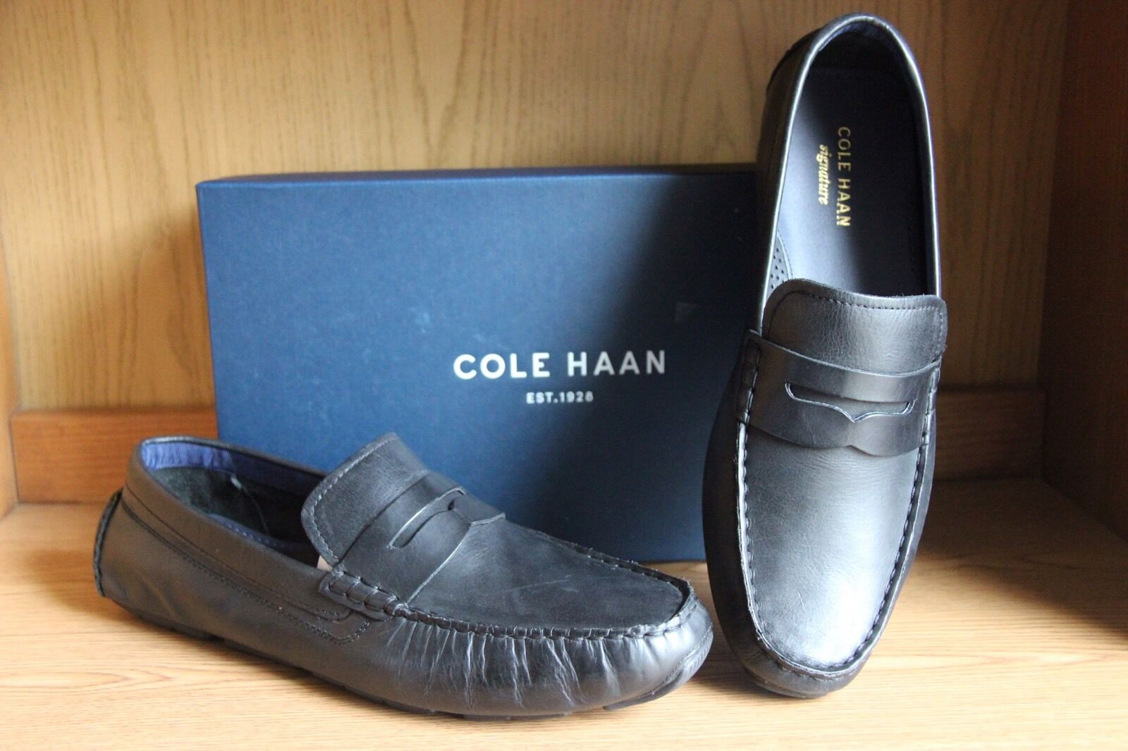 Cole Haan Kelson Penny Penny Penny Loafer scarpe nero Uomo Dimensione 12  C22443 a90730