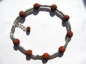 """Aggressiv Indisches Rudraksha """"tränen Shivas"""" Armband 19,5-22 Cm 3261"""