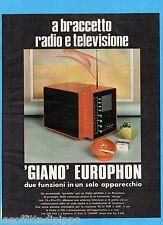QUATTROR972-PUBBLICITA'/ADVERTISING-1972- GIANO EUROPHON