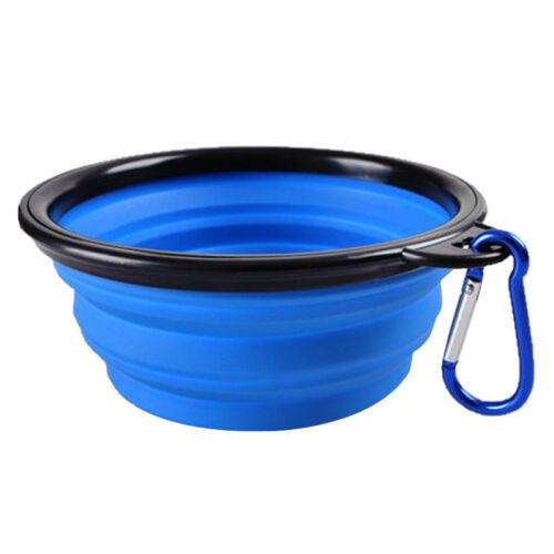 Portable Travel Collapsible Foldable Pet Dog Bowl for Food /& Water Bowls Dish NG
