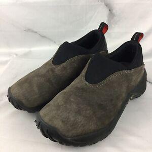 Merrell-Womens-Size-8-Orbit-Moc-Slip-On-Gunsmoke-Brown-Suede-Hiking-Shoes