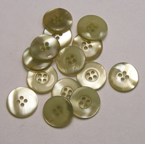 10pc 15 mm vert jaune ancienne limonade factices Shell Cardigan Knitwear Bouton 0119