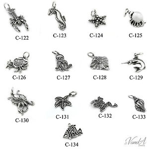 Image Is Loading Sterling Silver Sea Animal Ocean Charms For Bracelet