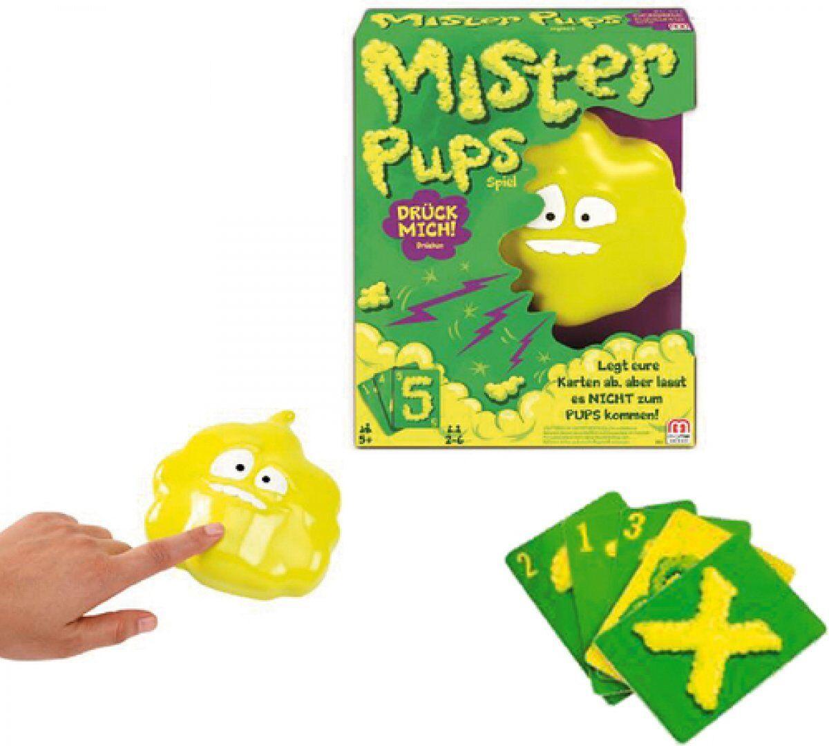 Mattel MISTER PUPS Spiel ab 5 Jahre Jahre Jahre Spielspaß mit Gekicher Karten ablegen pupst bda704