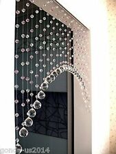 Arch shape white crystal 25 string for partition spaces Beads Curtain