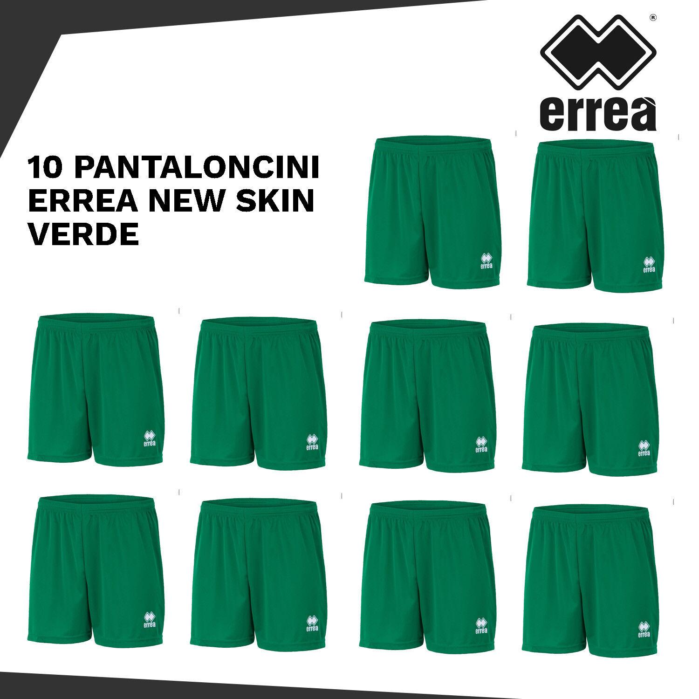 10 PANTALONCINI ERREA NEW SKIN CALCIO CALCETTO VOLLEY  A245 verde