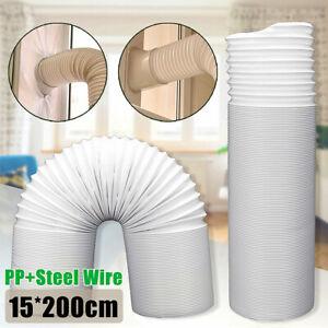 2M Abluftschlauch Ø 150mm PVC Alu Flexibel für Klimaanlagen Mobile Klimageräte