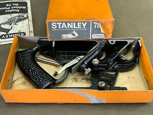 BOXED STANLEY NO 78 DUPLEX REBATE PLANE PROBABLY UNUSED
