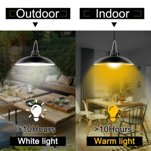 Solar Pendant Lights IP65 Lamp For Outdoor Indoor Shed Barn with Remote Control