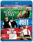 The Hot Fuzz / Shaun Of The Dead / World's End (Blu-ray, 2013, 3-Disc Set)