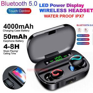 Bluetooth 5 0 Headset Tws Wireless Earphones Mini Earbuds Stereo Headphones Ipx7 Ebay