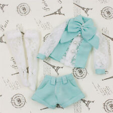"""Takara 12"""" Blythe Doll Outfits Sweet Candy Candy Suit-Sweet Sky Blue Top+Shorts"""