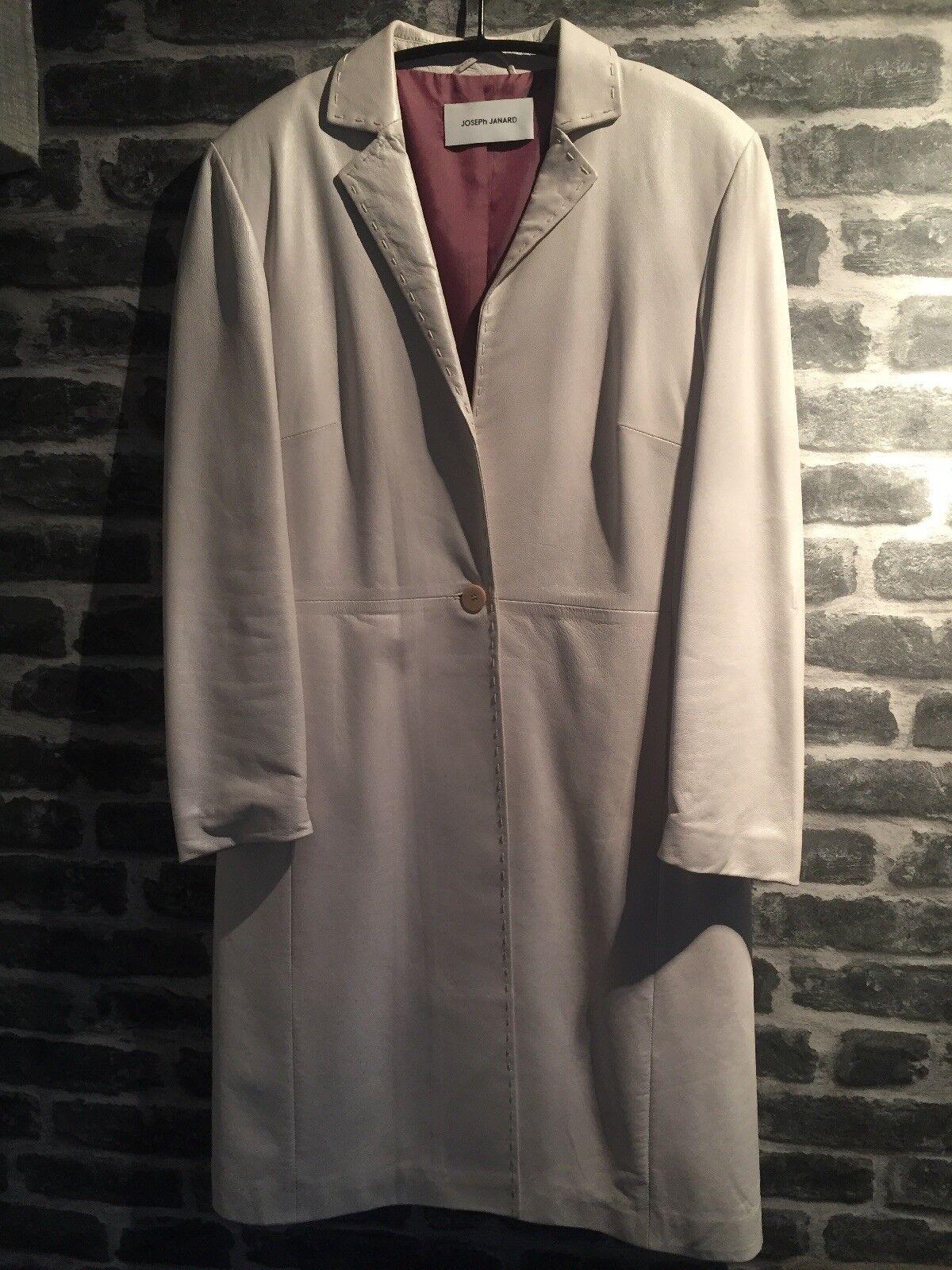 Joseph Janard White Leather Suit- Ladies Size 12
