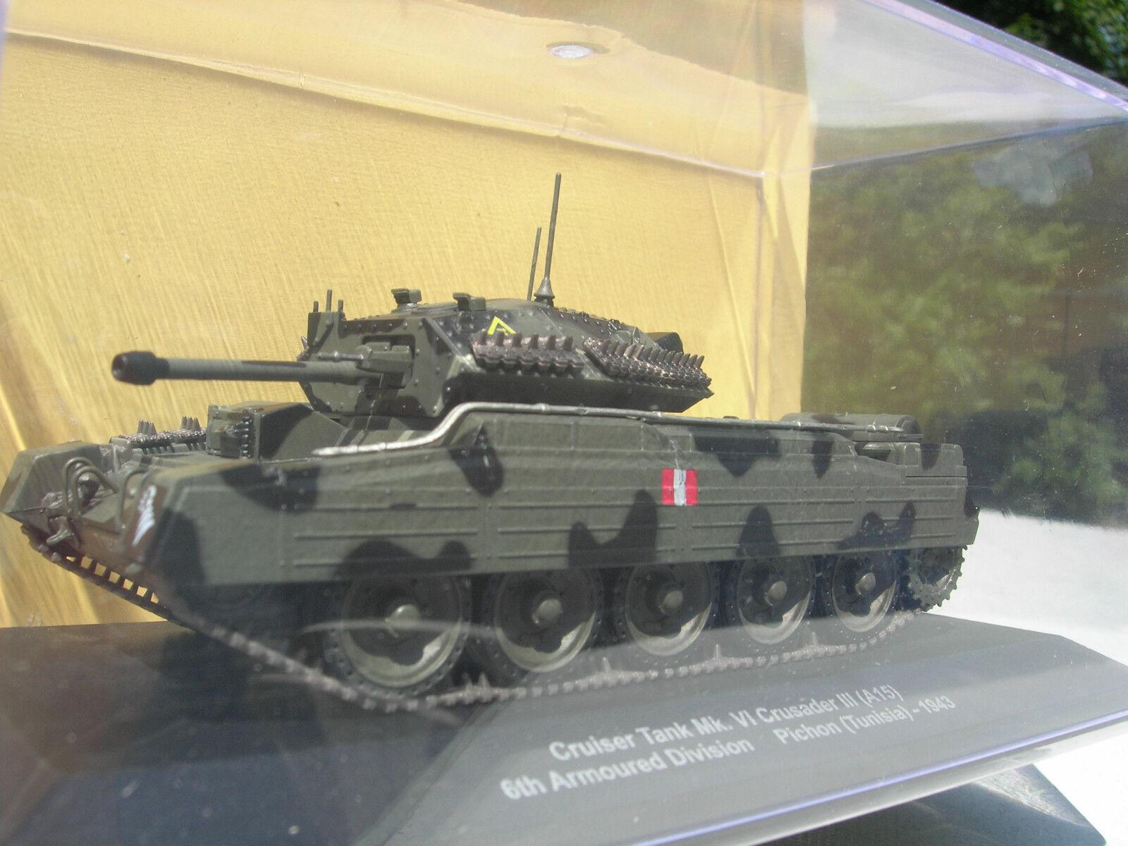 TANK 1 43 MILITAIRE CHAR CRUISER Mk VI CRUSADER III 6eme DIV. TUNISIE 1943