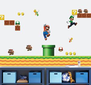 Adesivi Murali Super Mario.Dettagli Su Super Mario Bros Adesivi Da Parete Bambini Ragazzi Kids Game Playroom Camera Da Letto Uk Mostra Il Titolo Originale