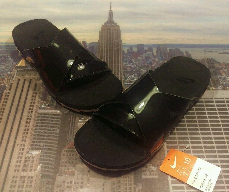 c438b20884d3 Nike NikeLab Taupo Premium Premium Premium Slide Sandal Black Black Size 10  849756 001 New 5ef236