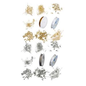 2-Set-Bijoux-Making-Kit-Jewelry-Findings-Starter-Kits-Beading-Silver-amp-Gold