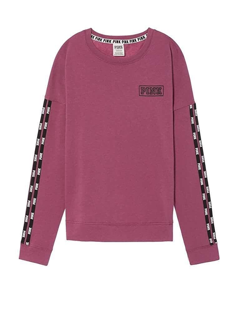 Victoria's Secret Pink Campus Campus Campus Crew Sweatshirt Berry Small NWT 636d30