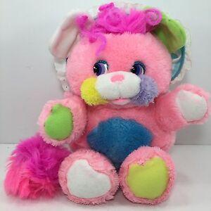 "Vintage 1986 Mattel Popples Pink Baby CRIBSY Stuffed Toy 12"""