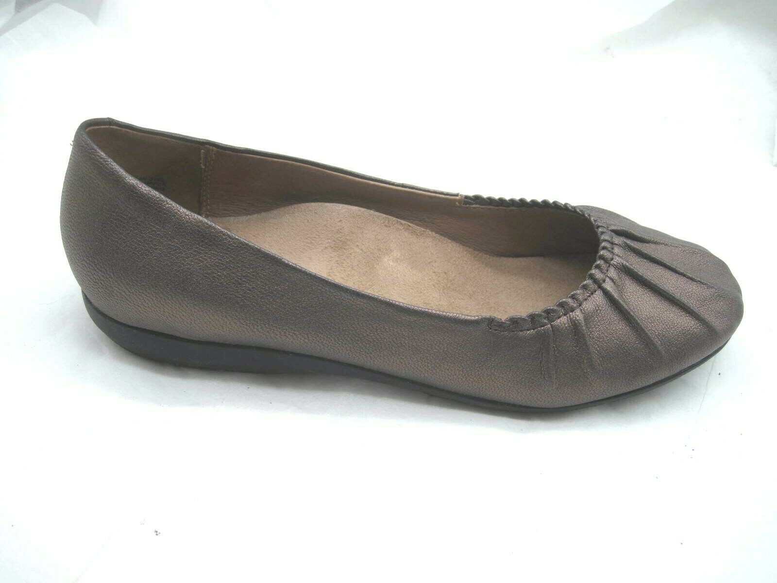 Abeo Taylin 9N Narrow brown pleated ballet ballerina flats womens ladies shoes
