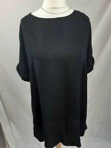 h&m loose fit spring/summer Black short sleeve shift dress size eu 38/uk 12
