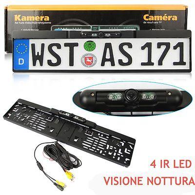 Portatarga + Telecamera 170 °  / Visione Nottura Retromarcia Auto Retrocamera