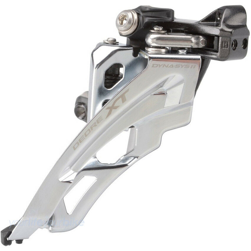 SHIMANO DEORE XT FD-M8000-L UMWERFER 11- 11- 11-  3-fach FRONT PULL SIDE SWING LOW CLAMP 256688
