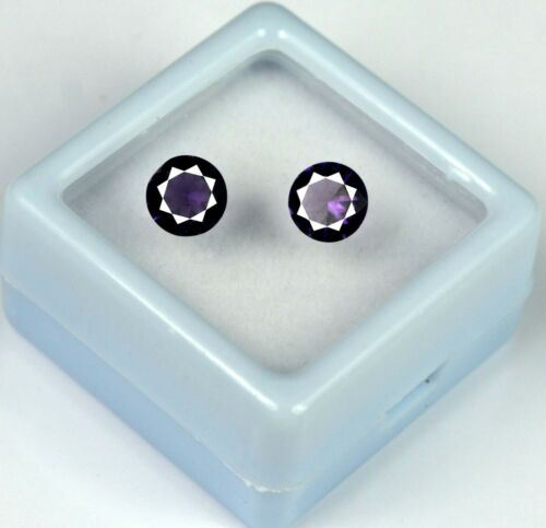 Details about  /Gemstone Pair 1.20 Ct//5mm Violet Amethyst 100/% Natural Round Cut Certified GN48