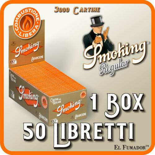 Arancioni Regular 1 Box 50 Libretti 3000 Cartine SMOKING ORANGE CORTE