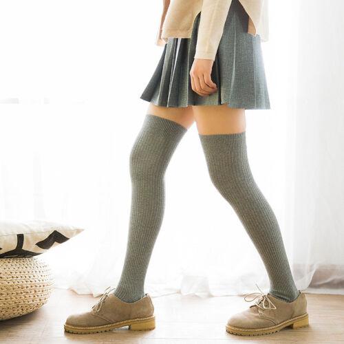 Neue Damen Oberschenkel Hohe Socken Weiche Winterstrick über Knie Langen Stiefel