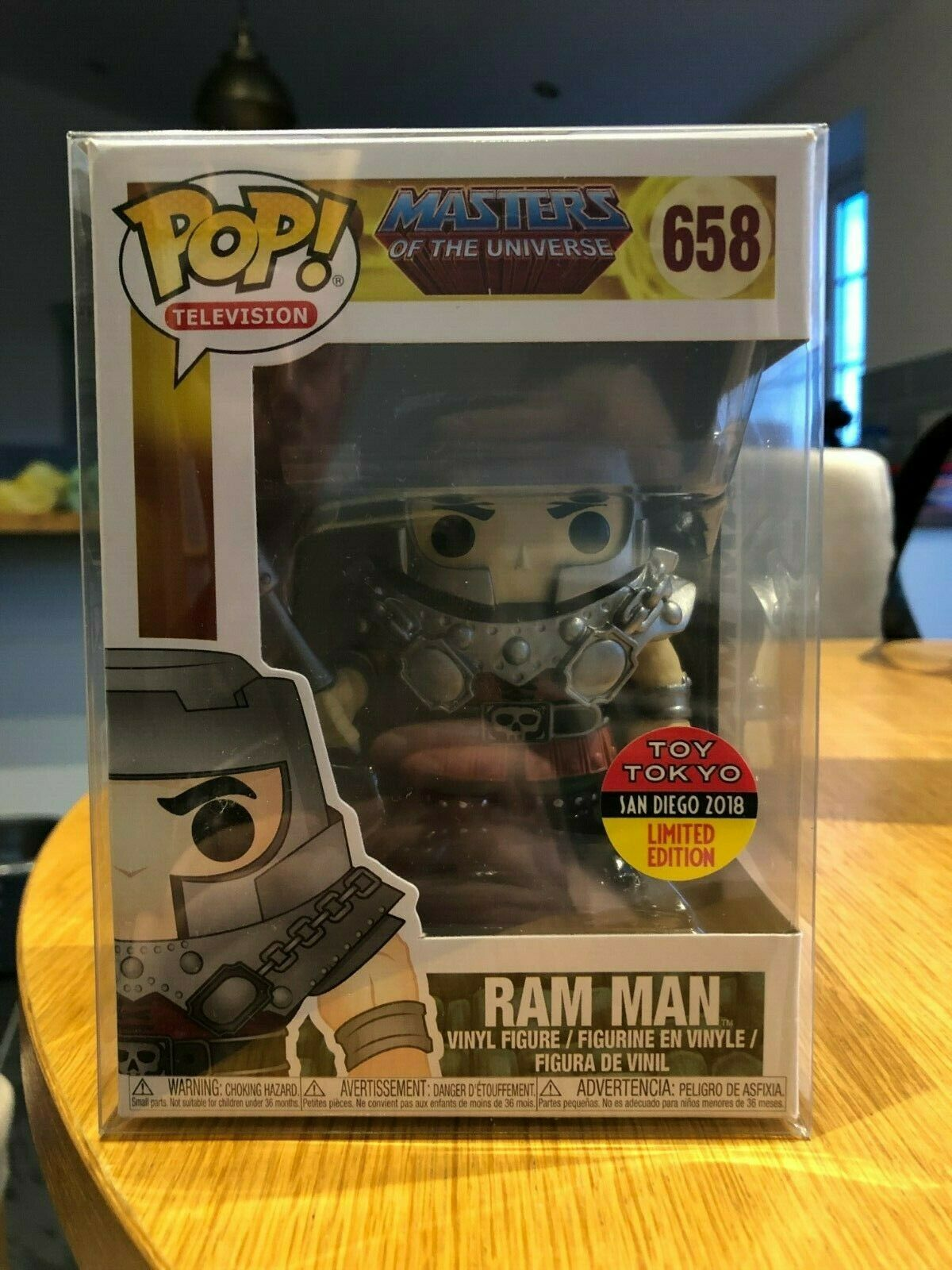 Funko Pop Masters of the Universe Ram Man Toy Tokyo Ltd Ed  658 with Protector