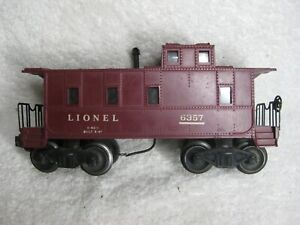 Lionel-6357-Maroon-Illum-CABOOSE-No-SP-O27-Ga-Unrestored-POSTWAR-Original