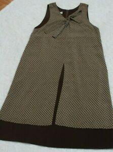 BC Ethics Dress Woman's Sleeveless Size Medium 8/10 Brown Crewneck Polyester