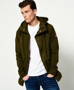 New Mens Superdry Rookie Fishtail Parka Jacket Burnished Olive