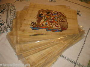 WHOLESALE BULK LOT 100 REAL EGYPTIAN PAPYRUS PAINTINGS!