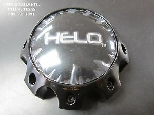 Helo-Center-Cap-1079L170-HELO-879-Center-Cap-Gloss-Black-8-Lug-NEW