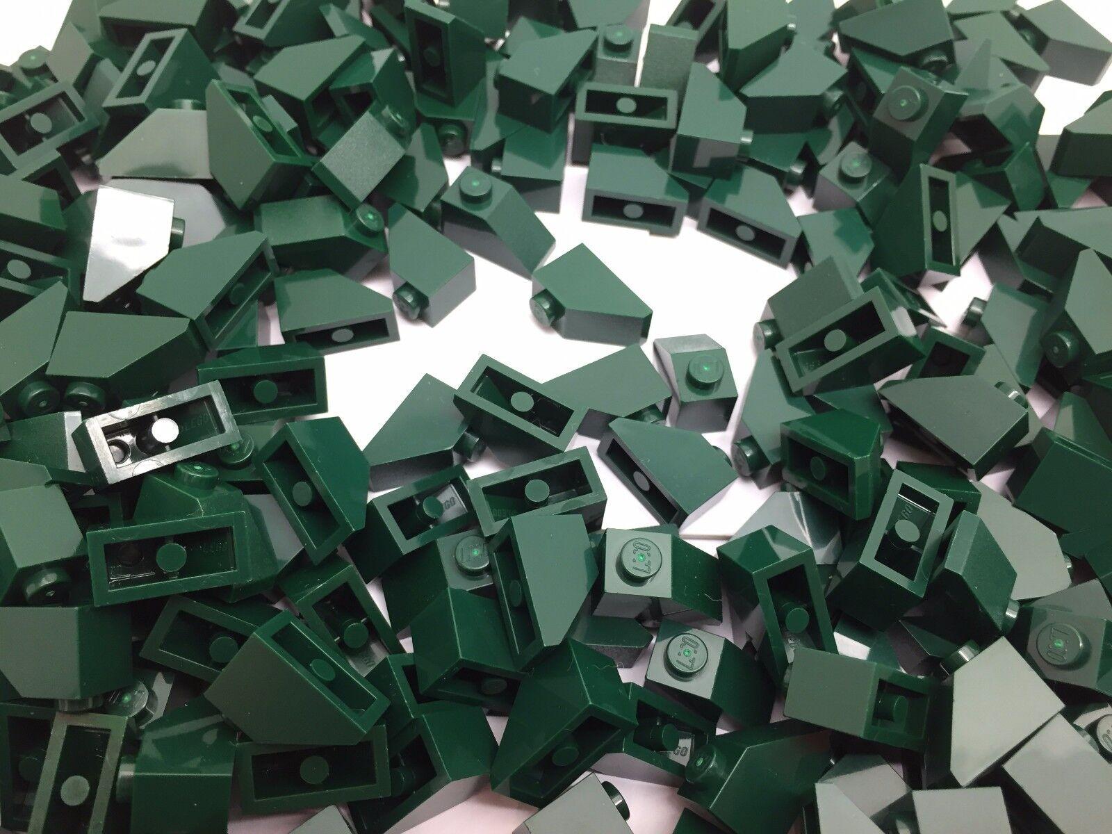 Lego 3040 - Dark Earth green pente toit carreau 1x2 45 D. ANGLE - 10,25,50 pièces