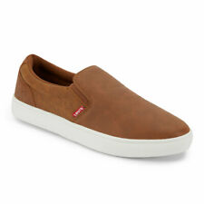 Levi's Mens Jeffrey 501 Slip-on Waxed Casual Rubber Sole Skate Sneaker Shoe
