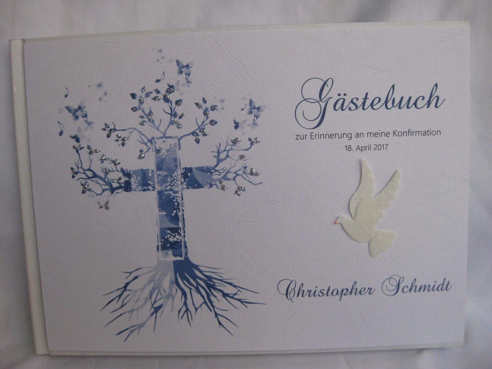 Gästebuch   Blau   Konfirmation Kommunion Deko Tischdeko Geschenk | Kaufen Sie beruhigt und glücklich spielen  | Komfort