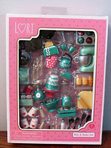 Lori Doll Baking Miniature Furniture Mix Amp Bake Set