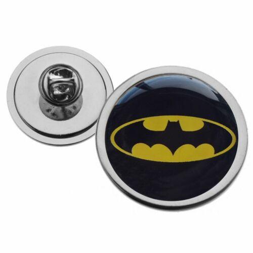 Logotipo de Batman Negro Y Amarillo Corbata Pin Insignia de metal