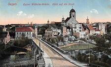 Sagan Kaiser Wilhelm - Brücke Blick auf die Stadt Postkarte