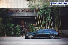 20x9 20x10 +40 Rohana RC22 5x114 Graphite Wheels Fit Lexus GS350 2014 Staggered