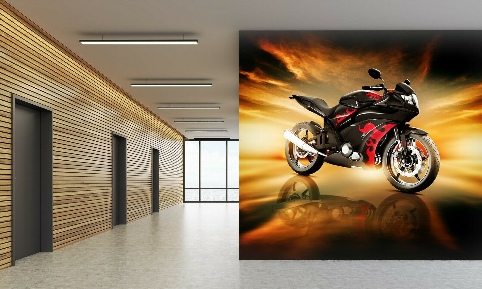 3D Motorrad O29 Auto Tapete Wandbild Selbstklebend Abnehmbare Angelia