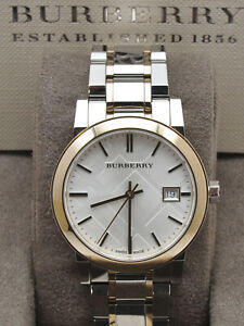Burberry-City-lady-wristwatch-date-gold-plated-bezel-new-pristine-in-box-02