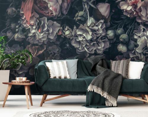 Merveilleuse Papier peint papier peint la fresque 15f0414220 fleurs vintage abstraction U