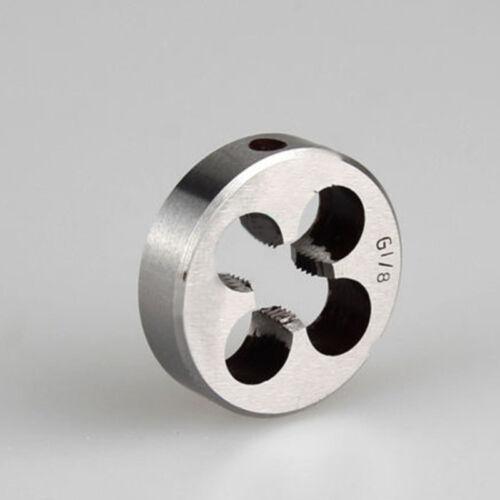 High Duty Pipe Thread Round Dies BSP 1//8 ,1//4 ,3//8 1//2 ,3//4 HSS High Speed Steel