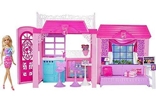 Barbie Casa De Vacaciones Glam Con Muñeca-Nuevo Y En Caja